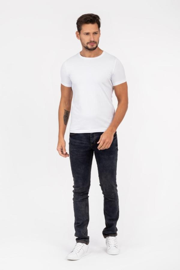 Tshirt męski biały - wiosna
